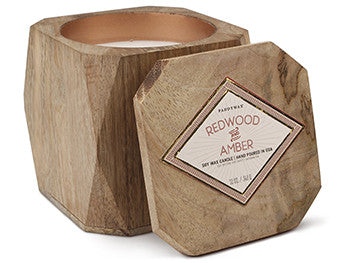 Woods Candle: Redwood & Amber