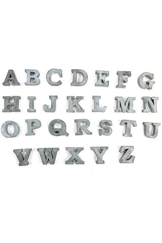 Large Zinc Letters Letters & Numbers  Nook & Sill
