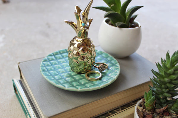 Ceramic Pineapple Jewelry Holder