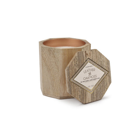 Woods Candle: Leather & Oakmoss