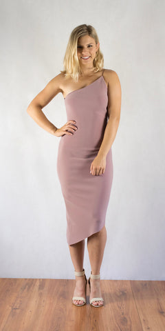 Luxul Asymmetrical Lavender Dress - Size 8