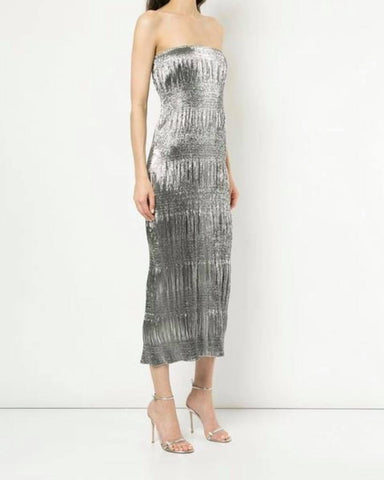 Magic Tube Dress Silver - Size 8