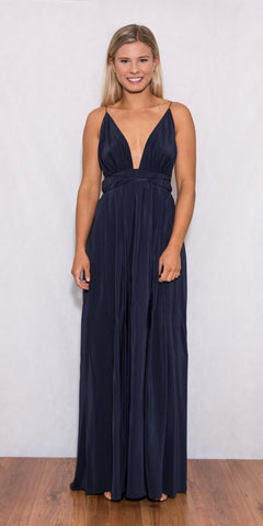 Blossom Gown Navy - Size 10