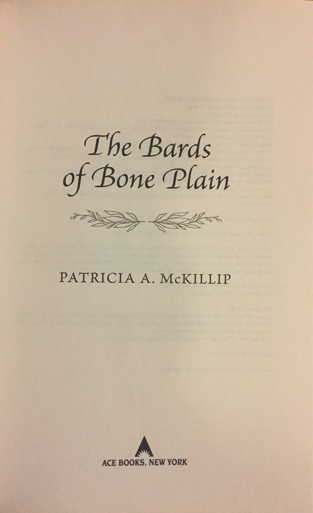 Bards of Bone Plain, The by Patricia A. McKillip -- Hardcover