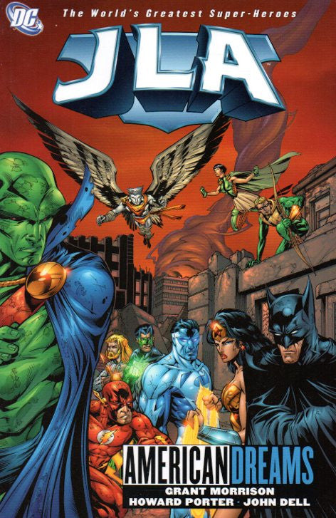 JLA: American Dreams by Grant Morrison and Howard Porter Front