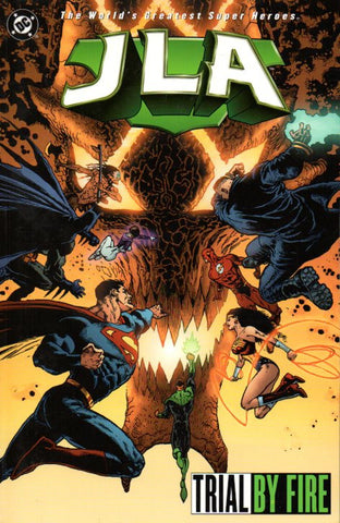 JLA: Trial by Fire by Joe Kelly, Doug Mahnke, and Tom Nugyen Front