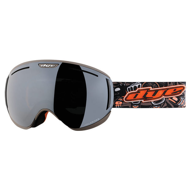 DYE Snow CLK Goggle | Black / Rust w/ 2x Lenses