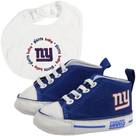 Baby Fanatic BFA-NYG30002 New York Giants NFL Infant Bib and Shoe Gift Set