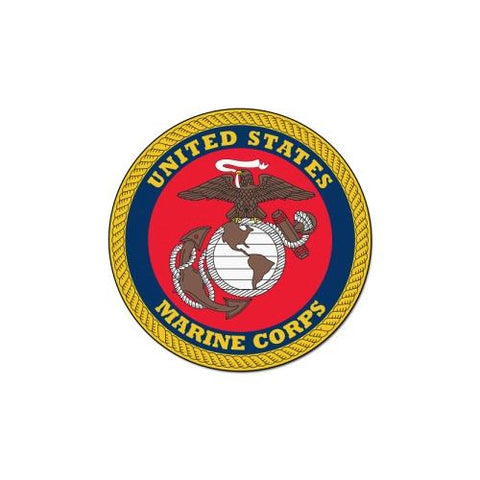 US Marines Armed Forces 44in Round Mat
