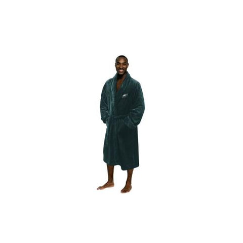 Philadelphia Eagles NFL Men's Silk Touch Bath Robe (L/XL)