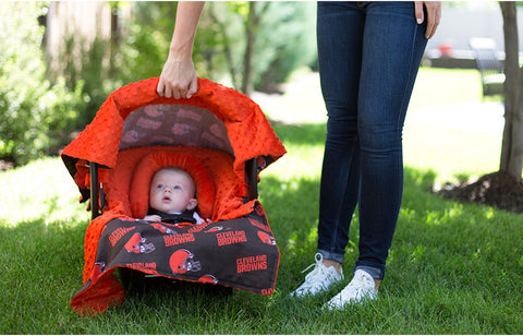 "Cleveland Browns NFL ""The Whole Caboodle"" 5-Piece Carseat Cover Set"