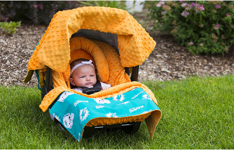 "Miami Dolphins NFL ""The Whole Caboodle"" 5-Piece Carseat Cover Set"