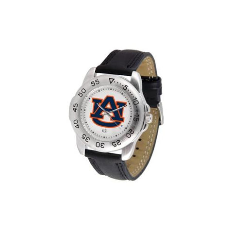 "Auburn Tigers NCAA ""Sport"" Mens Watch (Leather Band)"