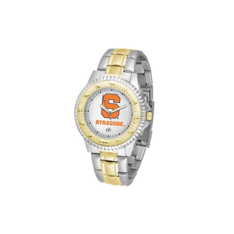 "Syracuse Orangemen NCAA ""Competitor"" men's watch (2-Tone Stainless Steel Band)"