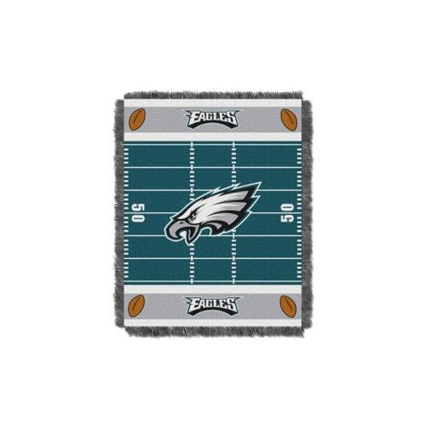 Philadelphia Eagles NFL Triple Woven Jacquard Throw (Field Baby Series) (36x48) (2-Pack)