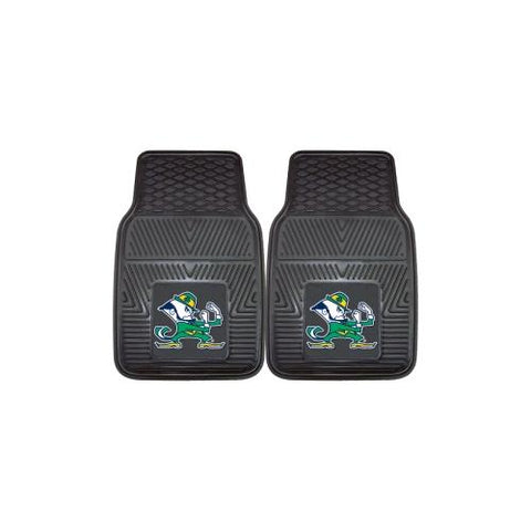 "Notre Dame Fighting Irish NCAA Heavy Duty 2-Piece Vinyl Car Mats (18""x27"")"