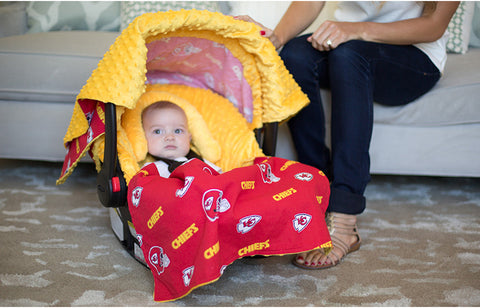 "Kansas City Chiefs NFL ""The Whole Caboodle"" 5-Piece Carseat Cover Set"