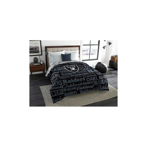 Oakland Raiders NFL  Full Comforter (Anthem) (76 x 86)