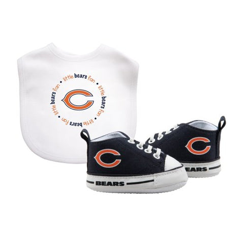 Baby Fanatic BFA-CHB30002 Chicago Bears NFL Infant Bib and Shoe Gift Set