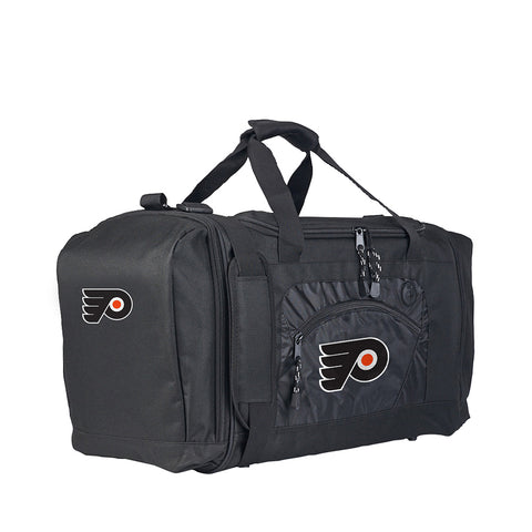 Philadelphia Flyers NHL Roadblock Duffel Bag (Black/Black) (2-Pack)
