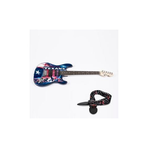"Houston Texans NFL ""Northender"" Electric Guitar with Strap"