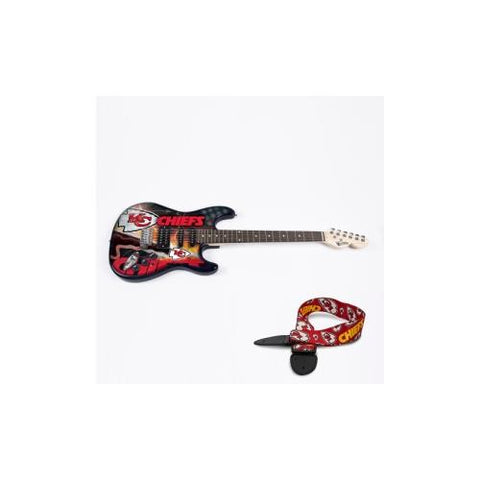 "Kansas City Chiefs NFL ""Northender"" Electric Guitar with Strap"