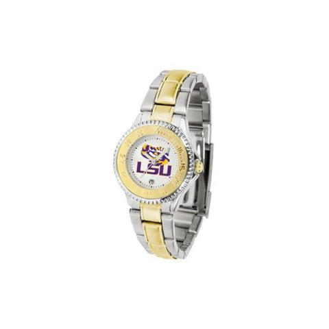 "LSU Tigers NCAA ""Competitor"" Women's watch (2-Tone Stainless Steel Band)"