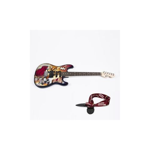 "Miami Heat NBA ""Northender"" Electric Guitar with Strap"