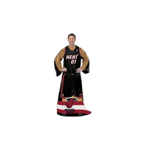 Miami Heat NBA Adult Uniform Comfy Throw Blanket w/ Sleeves (2-Pack)