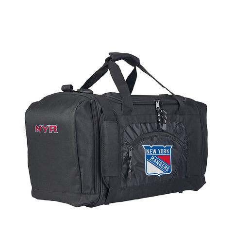 New York Rangers NHL Roadblock Duffel Bag (Black/Black) (2-Pack)