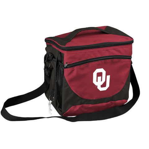NCAA Oklahoma Sooners 24 Can Cooler, Team Color, Small
