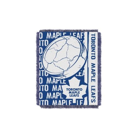 Toronto Maple Leafs NHL Triple Woven Jacquard Throw (Double Play Series) (48x60) (2-Pack)