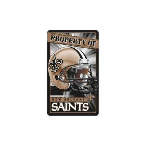 "New Orleans Saints NFL ""Property Of"" Plastic Sign (7.25in x 12in)"