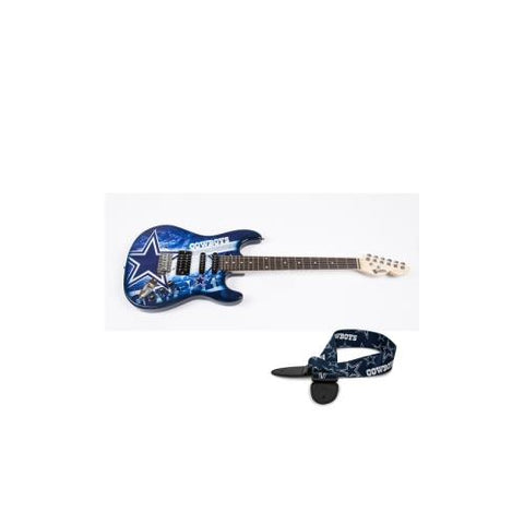 "Dallas Cowboys NFL ""Northender"" Electric Guitar with Strap"