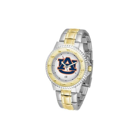 "Auburn Tigers NCAA ""Competitor"" men's watch (2-Tone Stainless Steel Band)"