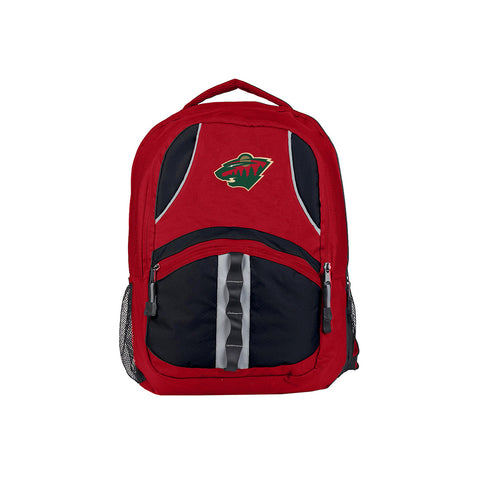 Minnesota Wild NHL Captain Backpack (Red/Black) (2-Pack)