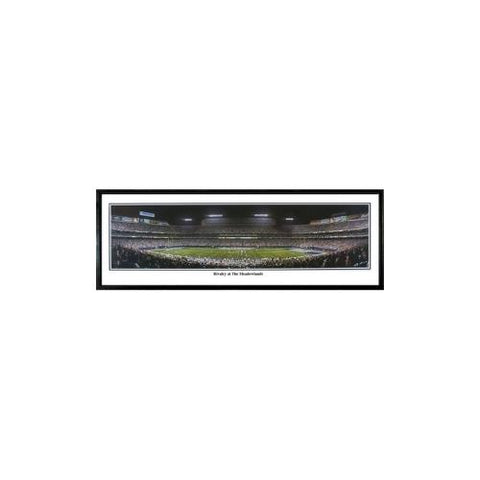 "New York Giants ""Rivalry At The Meadowlands"" - 13.5""x39"" Standard Black Frame"