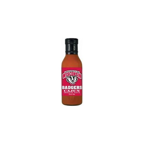 Wisconsin Badgers NCAA Cajun Grilling Sauce (12 oz)