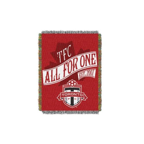 Toronto FC MLS Woven Tapestry Throw Blanket (48x60) (2-Pack)