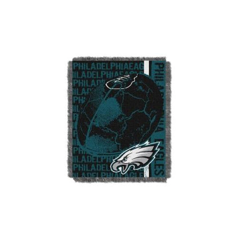 Philadelphia Eagles NFL Triple Woven Jacquard Throw (Double Play) (48x60) (2-Pack)
