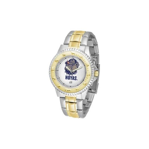 "Georgetown Hoyas NCAA ""Competitor"" men's watch (2-Tone Stainless Steel Band)"