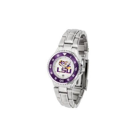 "LSU Tigers NCAA ""Competitor"" Women's Watch (Metal Band)"