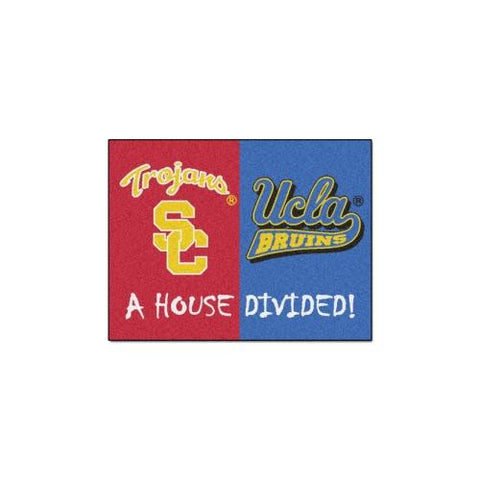 "USC Trojans / UCLA Bruins House Divided NCAA ""All-Star"" Floor Mat (34""x45"")"