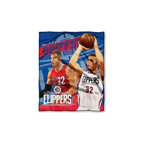 Los Angeles Clippers NBA Blake Griffin Silk Touch Throw (50in x 60in)
