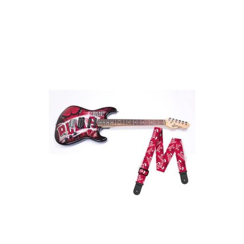 "Chicago Bulls NBA ""Northender"" Electric Guitar with Strap"