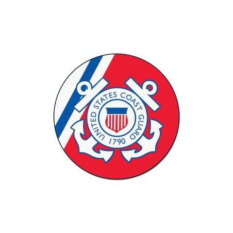 US Coast Guard Armed Forces 44in Round Mat
