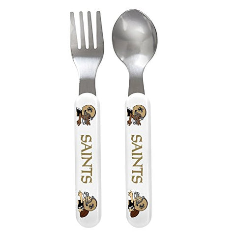 Baby Fanatic Fork and Spoon Set, New Orleans Saints