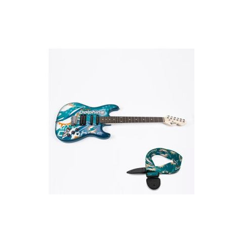 "Miami Dolphins NFL ""Northender"" Electric Guitar with Strap"