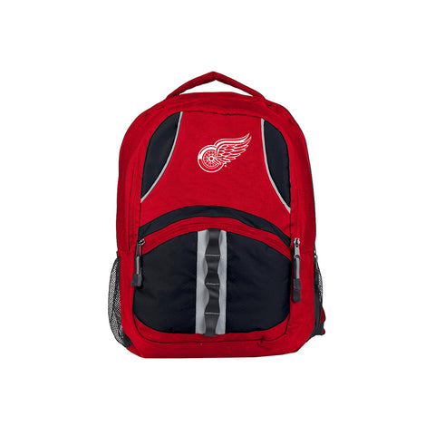 Detroit Red Wings NHL Captain Backpack (Red/Black) (2-Pack)