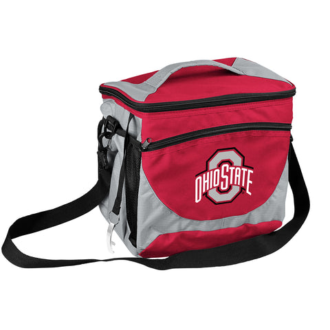 NCAA Ohio State Buckeyes 24 Can Cooler, Team Color, Small